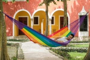 Hammock Nylon Rainbow3