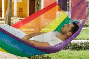 Hammock Nylon Rainbow4