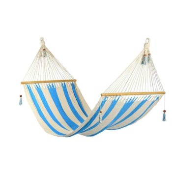 Hammock Turquoise and white