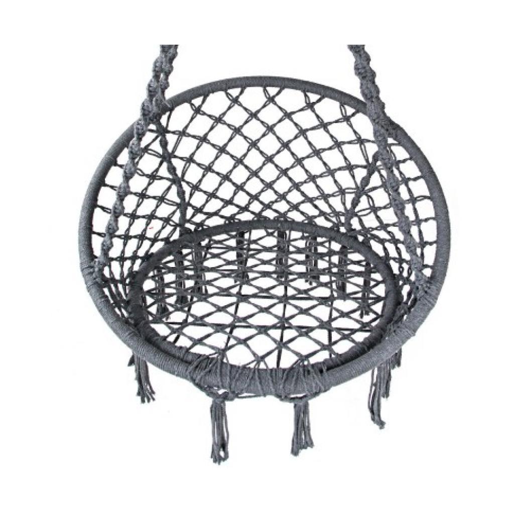 Macrame Hanging Chair in Grey