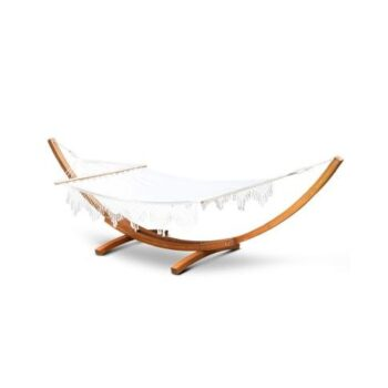 Double Tasselled Hammock and Wooden Hammock Stand for Hammock Shop featured image