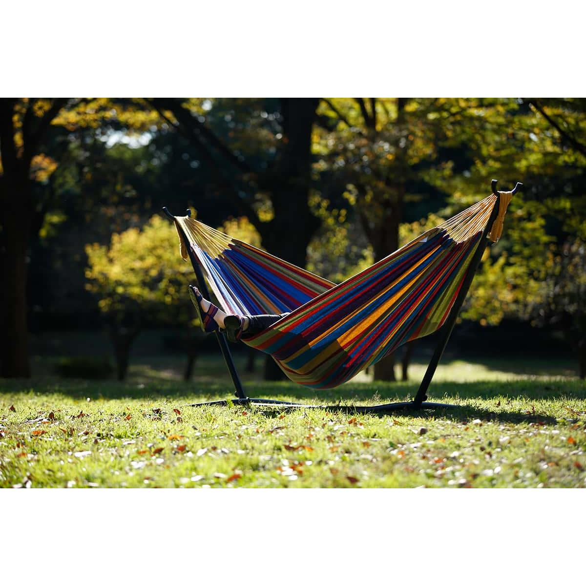 Double Tropical Hammock with Steel Hammock Stand