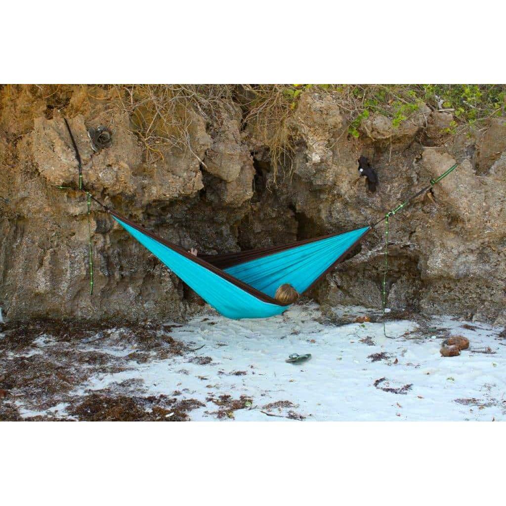 Parachute Hammock – Double (Chocolate:Turquoise)