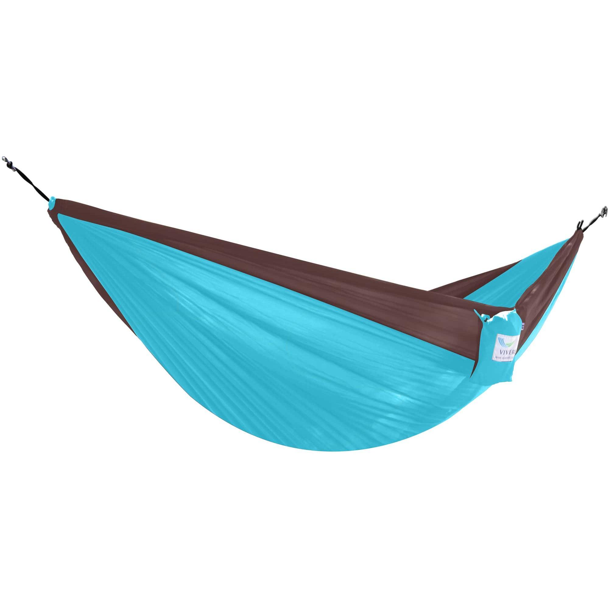 Parachute-Hammock-Double-ChocolateTurquoise featured image