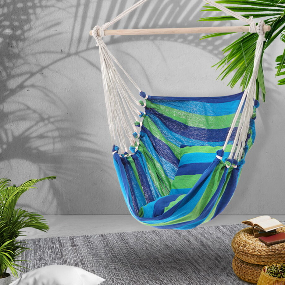 Hammock Arm Chair with Pillow in BLUE
