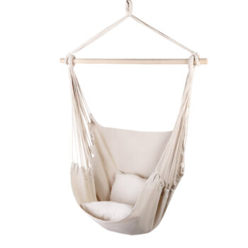 Hammock Arm Chair with Pillow in Cream