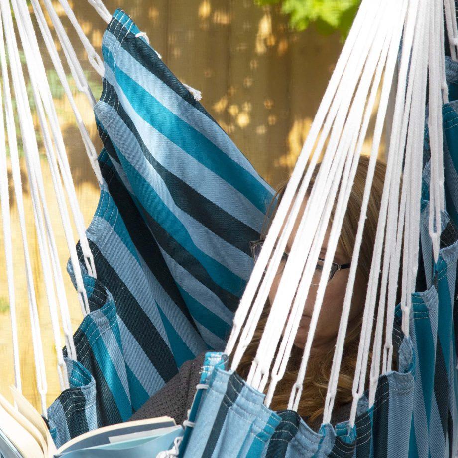Brazilian Hammock Chair in Blue Lagoon