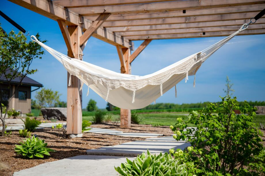 Double Brazilian Cotton Hammock in Natural with Fringe