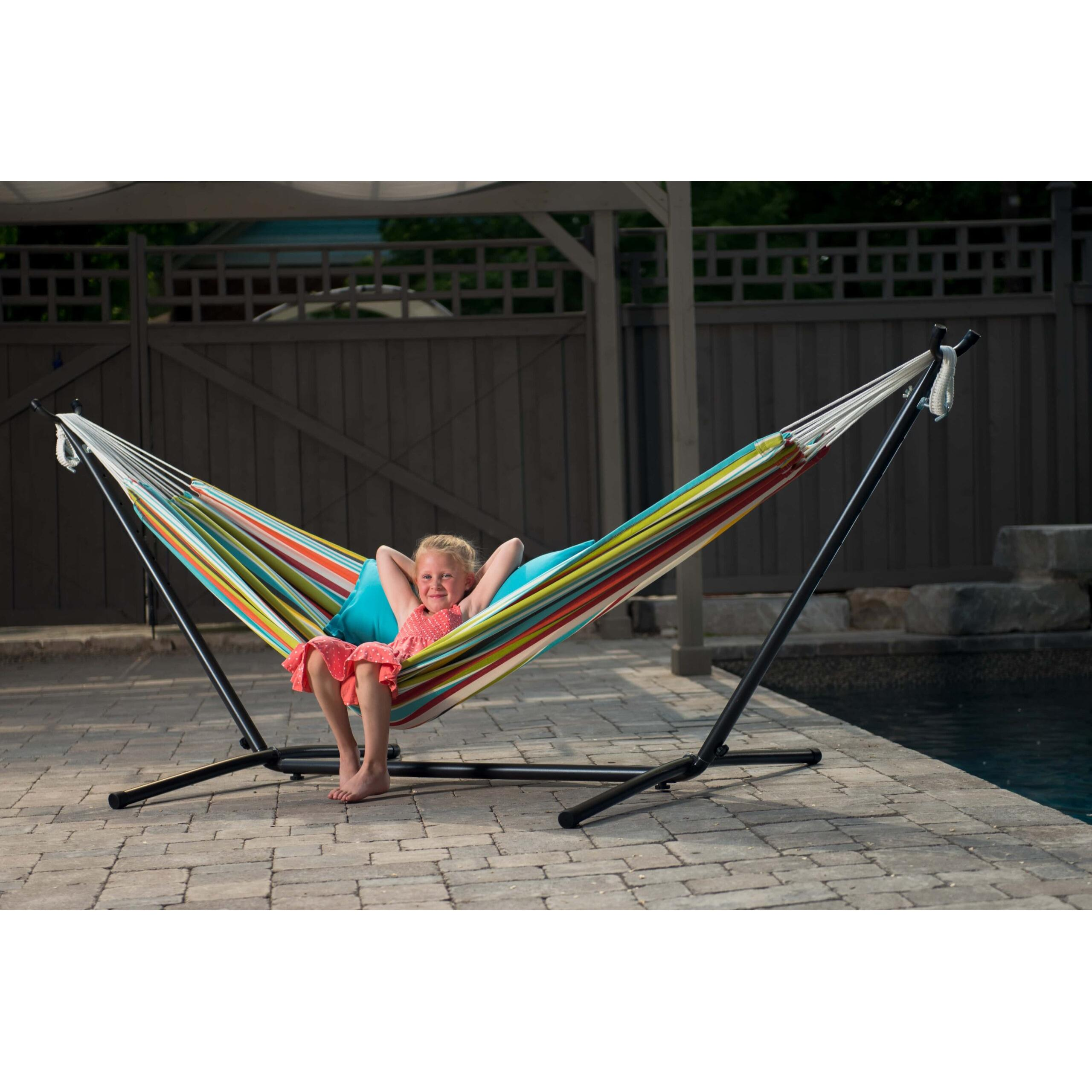 Universal Hammock Stand & Double Polyester Ciao Hammock