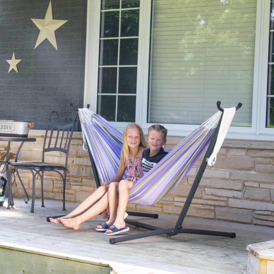 Universal Hammock Stand & Double Cotton Tranquility Hammock