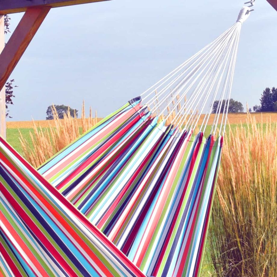 Double Brazilian Polyester Hammock in Ciao – BZPOLY10_Detail