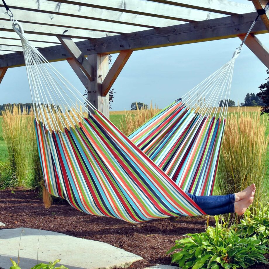 Double Brazilian Polyester Hammock in Ciao second featured image