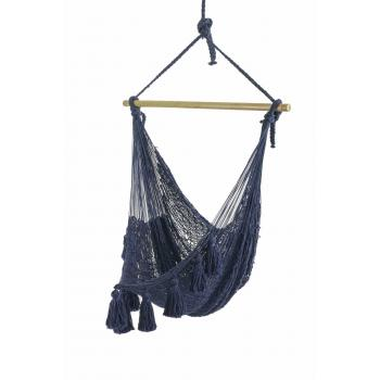 Deluxe Extra Large Mexican Hammock Chair Blueproduct image