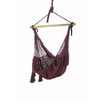 Deluxe Extra Large Mexican Hammock Chair Maroonproduct image