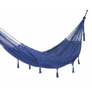 Deluxe Outdoor cotton hammock in Blue product image