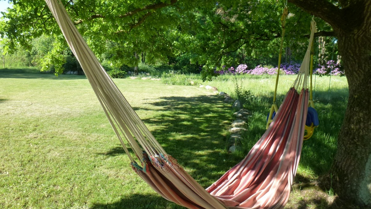 A drooping hammock and how to fix it